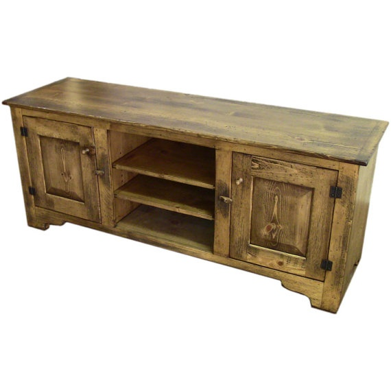 Distressed Pine 60 inch TV Stand Rustic Antique by ShakaStudios, $1838.00 - 99 Best TV Stands Images On Pinterest Rustic Tv Stands, Buffets