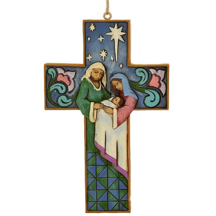 Jim Shore Holy Family Cross Ornament
