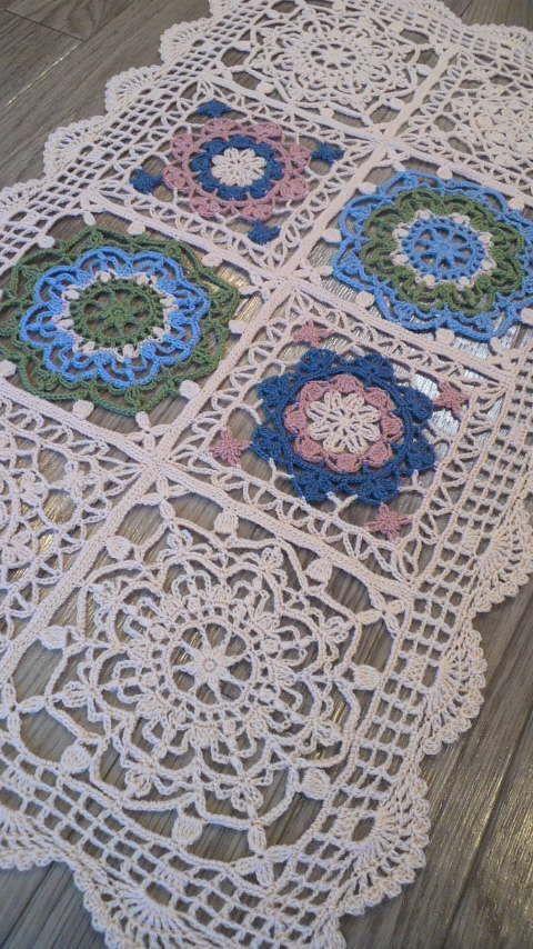 Afbeelding van de Turkse tegel-stijl kant acht gelijkspel in GoHoso wol | Wildflowers Handicraft verhaal