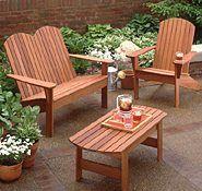 Adirondack Furniture Woodworking Plan
