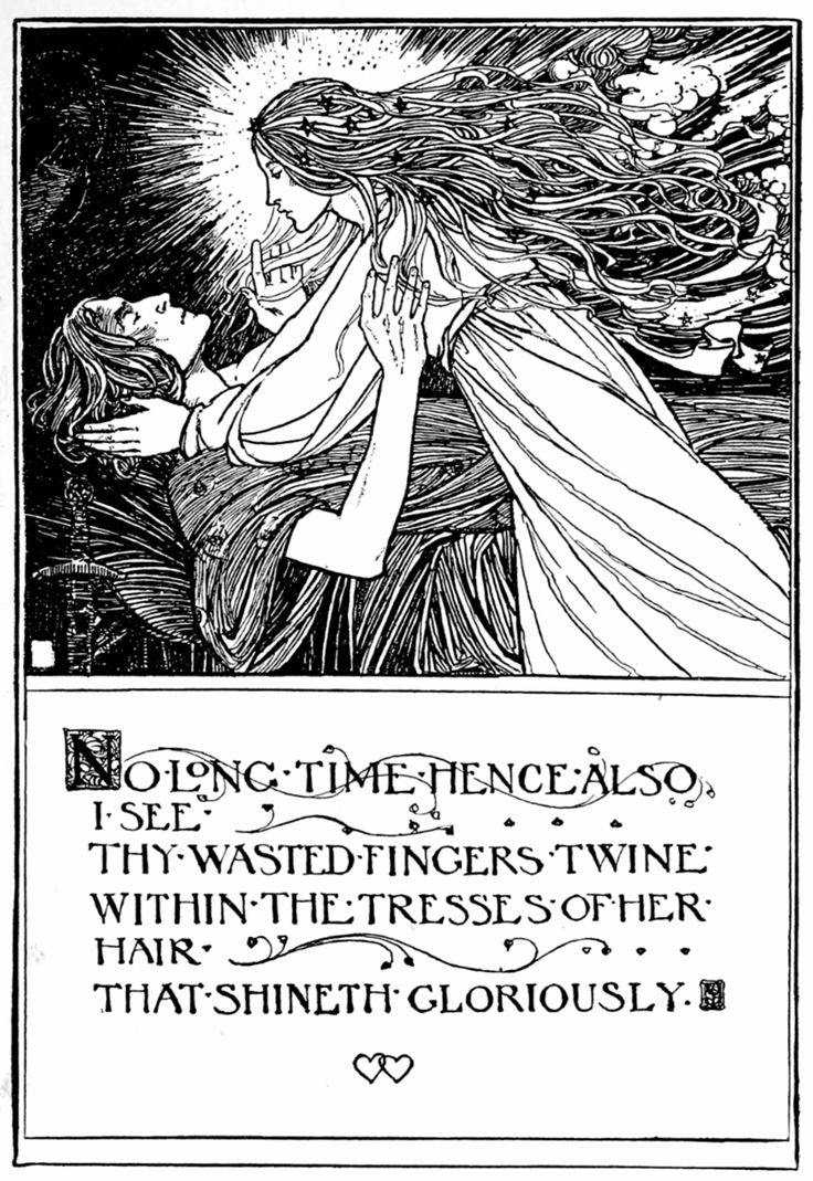 Art By Florence Harrison (1914) From The Early Poems Of William Morris