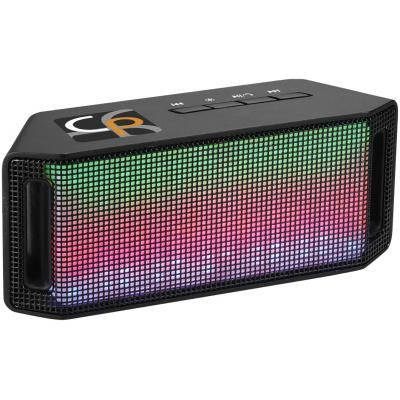 Image of Printed Promotional Lumini Light BT Speaker With LED Lights In black
