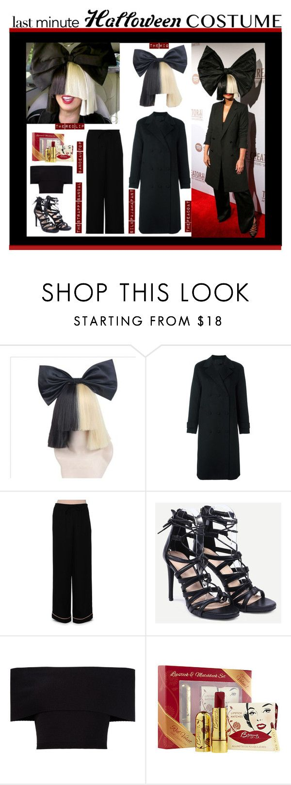 """Last-Minute Halloween Costume -SIA"" by m-e-l-o-d-e on Polyvore featuring Alexander Wang, Valentino, Rosetta Getty, Bésame, contestentry and halloweencostume"