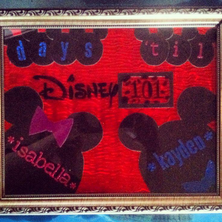 Our 101 days til Disney countdown! Customizable dry erase countdown board- $ 50 -❤️ Miss Nikki