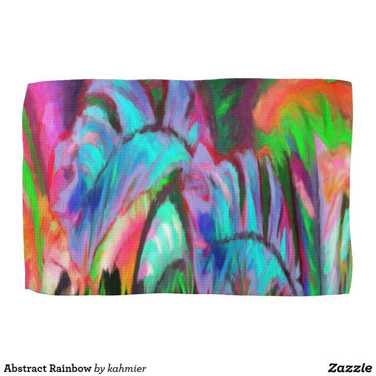 Abstract Rainbow Kitchen Towel  25% Off #leatherwooddesign #zazzle