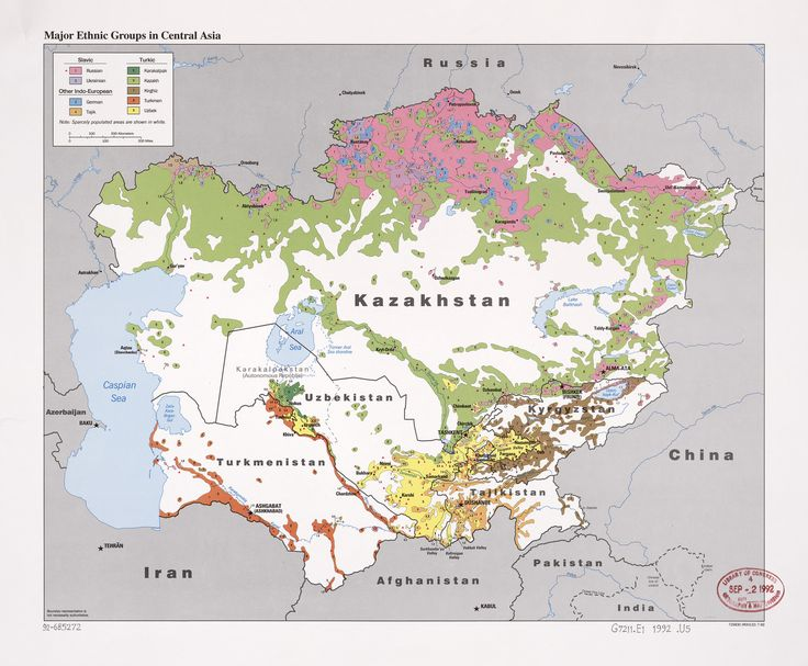 1992 Central Asia Ethnic Groups | Central Intelligence Agency | Flickr
