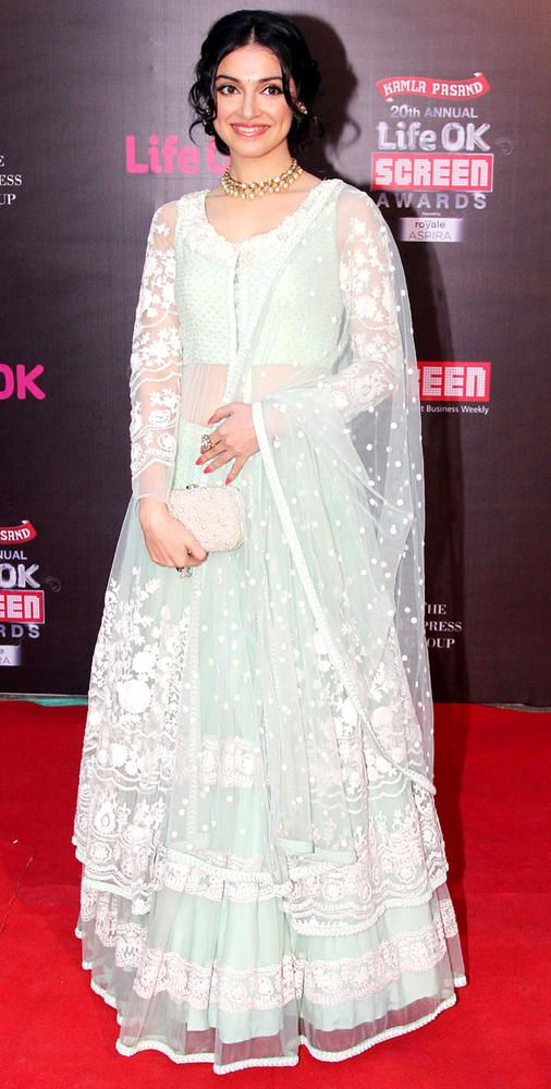Divya Khosla Kumar on the red carpet at the Life OK Screen Awards.