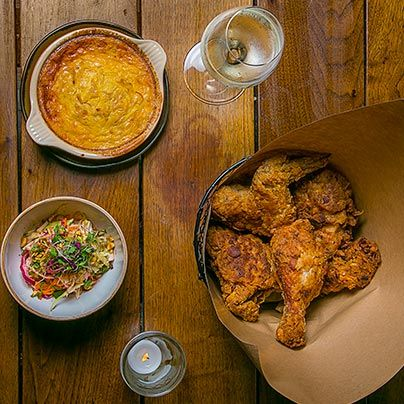 The menu at new Lower East Side restaurant Birds & Bubbles goes beyond fried chicken and Champagne.