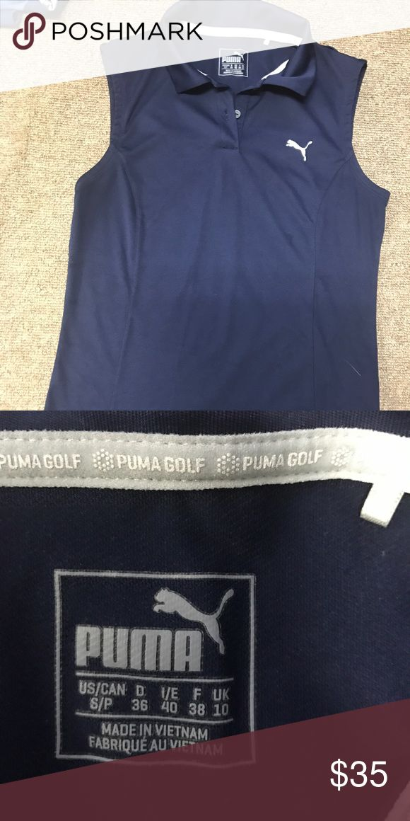 Navy blue Puma Golf Polo tank Navy blue Puma polo tank!! Worn only once only for a few hours!! BRAND NEW!!!! Puma Tops Tank Tops