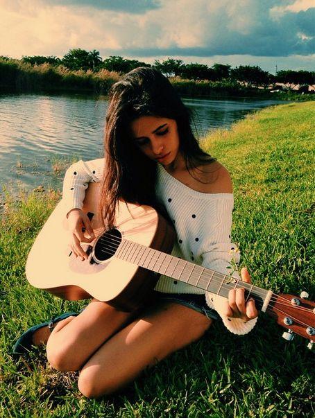 Camila Cabello Beautiful Guitar Player - http://oceanup.com/2014/10/08/camila-cabello-beautiful-guitar-player/