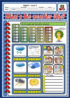 THE WEATHER FREE WORKSHEET#