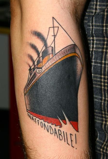 Titanic tattoo unsinkable  -  Tatuaje Titanic inhundible
