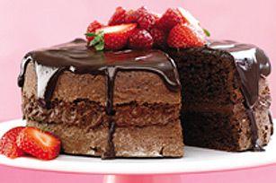 Gâteau glacé au chocolat et à la crème sure