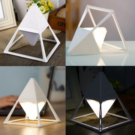 LED USB Table Light Small Desk Lamp Rechargeable Portable with Color Changing Dimmable