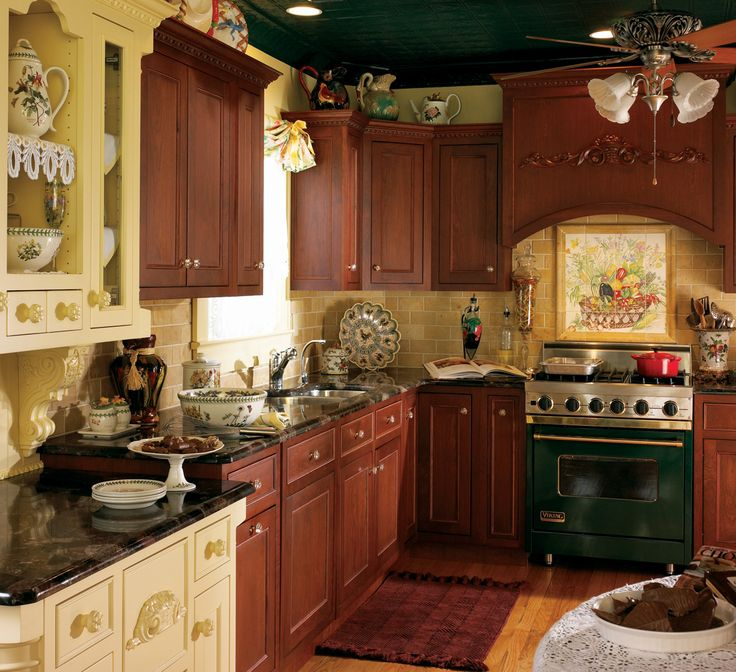 Traditionally Delicate By Plain U0026 Fancy Cabinets; Mix Of Stain And Painted  Cabinets
