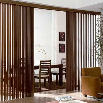 Faux wood vertical blind woods window and lounge ideas for Window treatments for less