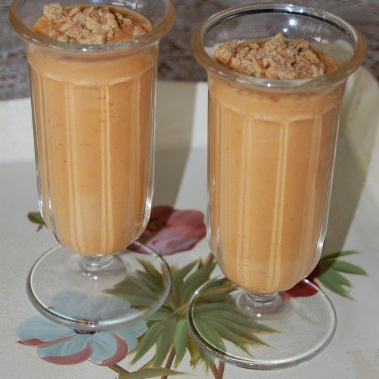 Pumpkin Chai Smoothies. Two of my favorites, pumpkin and chai.