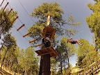 Flagstaff Xtreme Rope Course with Zip Lines, average high 82 in the summer, up in the shady pine trees, ziplining and working out at its best. It costs about $50 for an adult but I've heard there is a 2 for 1 Groupon somewhere out there.