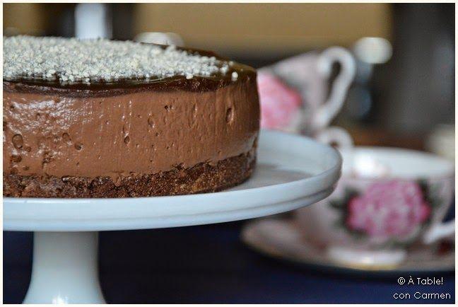 "À table !      con Carmen: CheeseCake de Chocolate estilo ""Lorraine Pascal"""