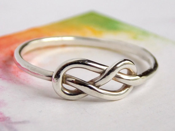 Infinity Knot Ring Sterling silver ring love ring by RitoOriginals, $25.00