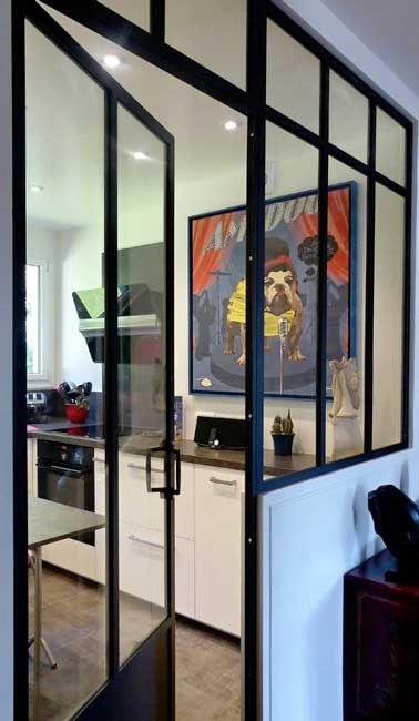 Délimiter la cuisine avec une verrière intérieure