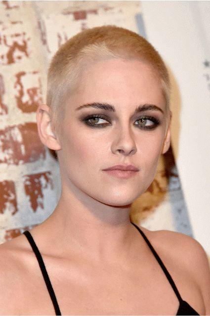 gif Kristen Stewart shaved her hair