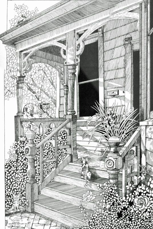 Coloring for adults kleuren voor volwassenen maisons Grayscale coloring books for adults