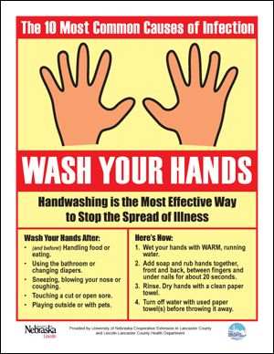 Wash Those Hands Poster ~ via http://food.unl.edu/free-handwashing-posters-activity-sheets-other-materials