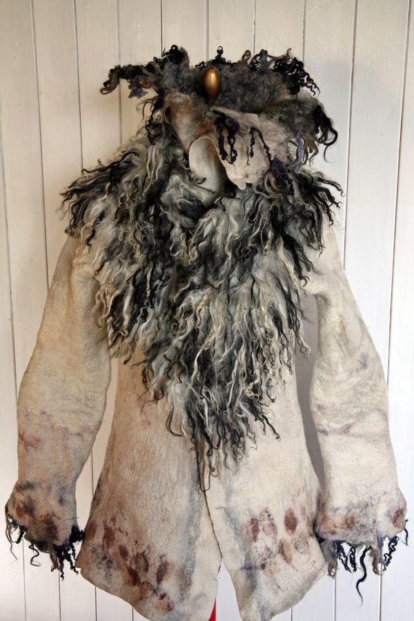 felted jacket and scarf by  Brita Stein  http://brita-stein.blogspot.ch/