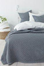 Ellos Home Sengeteppe Elma Check 260x260 cm Hvit, Beige, Mørk grå, Muldvarpbrun, Blå - Dobbeltseng | Ellos Mobile