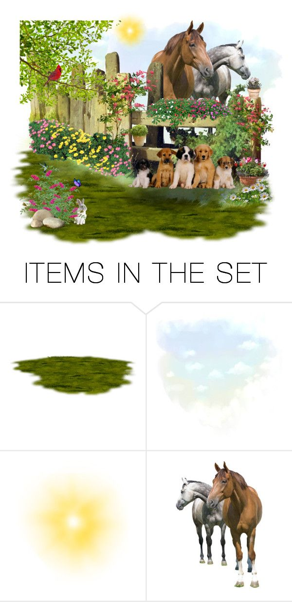 """""""Puppies"""" by penelopepoppins ❤ liked on Polyvore featuring art and amicimie"""