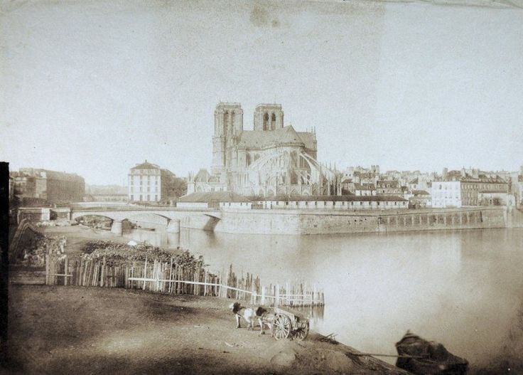 La Seine- et Notre Dame de Paris en 1850