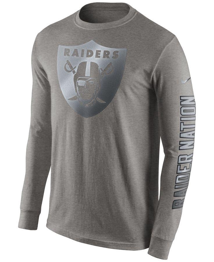 Nike Men's Long-Sleeve Oakland Raiders Reflective T-Shirt