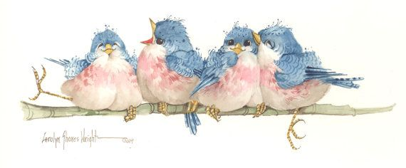 Let's Sing a New Song 6 x 12 original watercolor