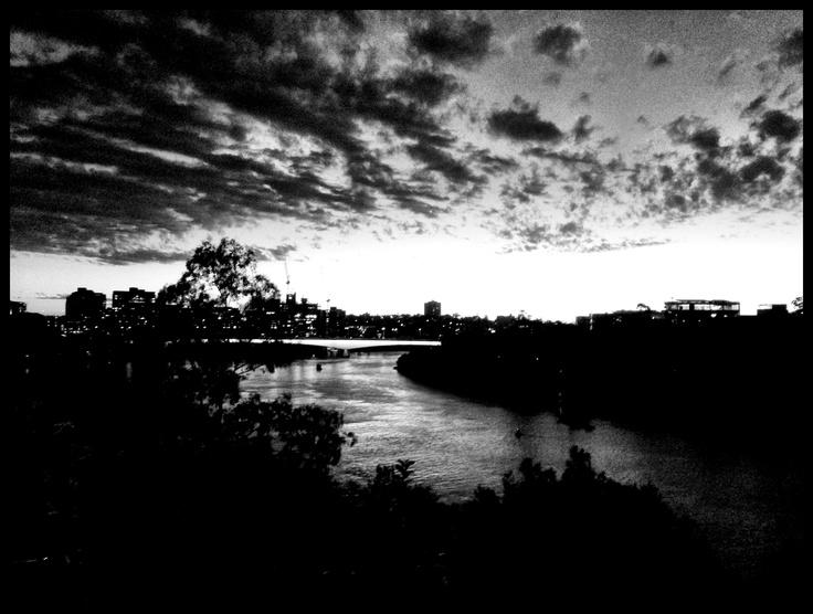 Sunset over Brisbane river