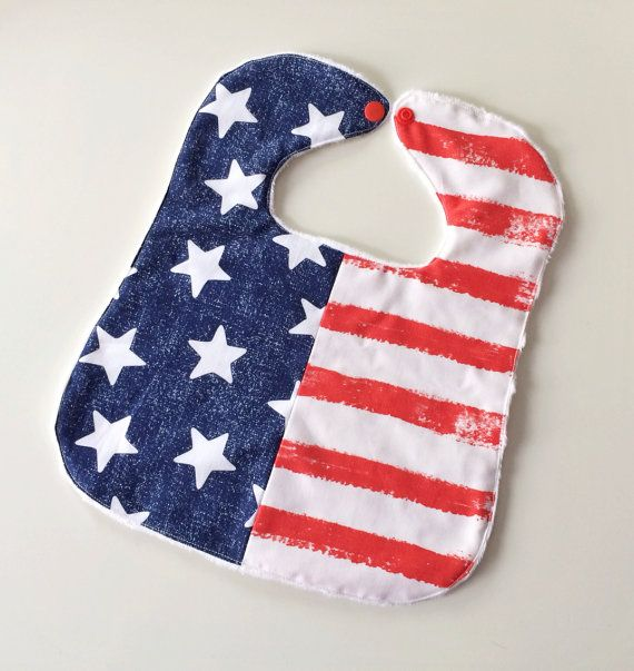 fourth of july baby bibs
