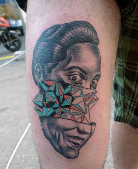 оригинальные цветные татуировки