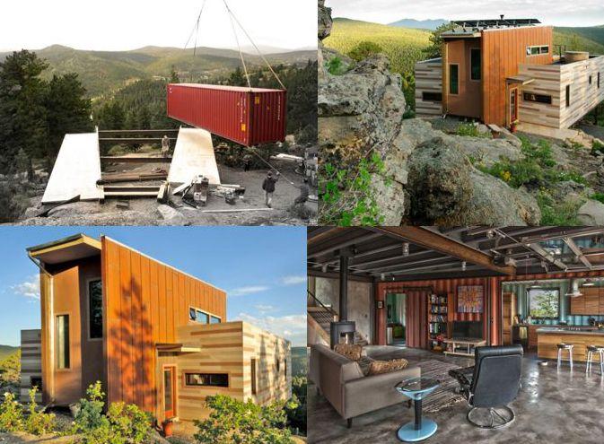 Otro ejemplo de casa hecha a partir de containers reciclados