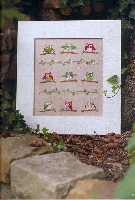 Cross #stitch owls pattern: Cross Stitch Kits, Cross Stitch Stitches Sew, Crossstitch, Cross Stitch Owl, Gallery Ru, Watches, Cross Stitches, Embroidery