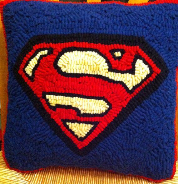 Superman Pillow on Etsy, $50.00