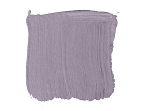 """Bella Donna    C2, BELLA DONNA C2-316W: """"I've been using Bella Donna a lot. It's a smoky lavender gray, the color of a twilight sky. I used it on the parlor floor of a brownstone, and it looked flat-out sophisticated. I'm in the bedroom of my country house right now, which is painted this color. Bella Donna is a sexy, adult color, but it can go a lot of different ways."""" -D"""