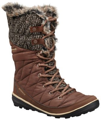 The Columbia Women's Heavenly Omni-Heat Knit Boot is waterproof, insulated lace-up boot with a quilted upper featuring faux fur and textured knit. Shop online
