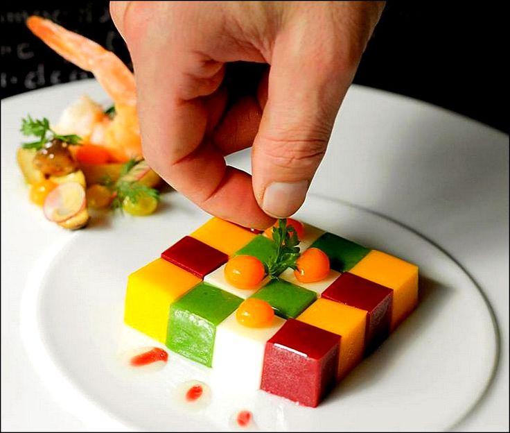 Visions gourmandes les plus belles pr sentations d for Cuillere pour decorer les assiettes