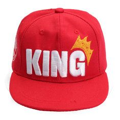 #Banggood Дети короля корону плоские краёв бейсболка регулируемая вышитая мальчик & девушка хип-хоп шляпа Snapback (1023699) #SuperDeals