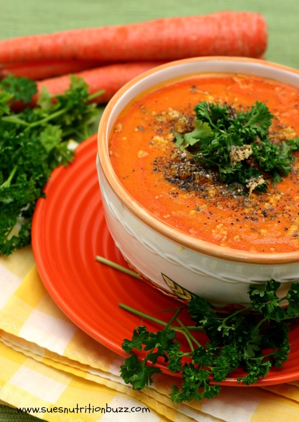 Carrot Ginger soup with Coconut Oil - Healing Winter Soup