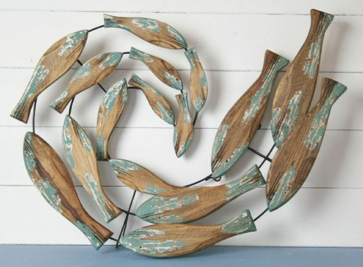 38 best images about metal fish art on pinterest for Wooden fish wall decor
