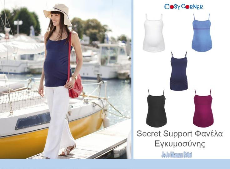 Secret Support Φανέλα Εγκυμοσύνης - Με ρυθμιζόμενες τιράντες και εσωτερική στήριξη ώστε να φοριέται και χωρίς σουτιέν.  http://www.cosycorner.gr/el/category/ρούχα-εγκυμοσύνης-μητρότητας/secret-support-φανέλα-εγκυμοσύνης/