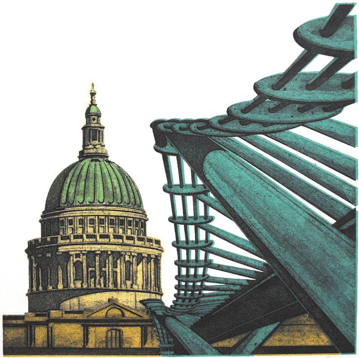 Barry Goodman | St Pauls | #art | #London | #print
