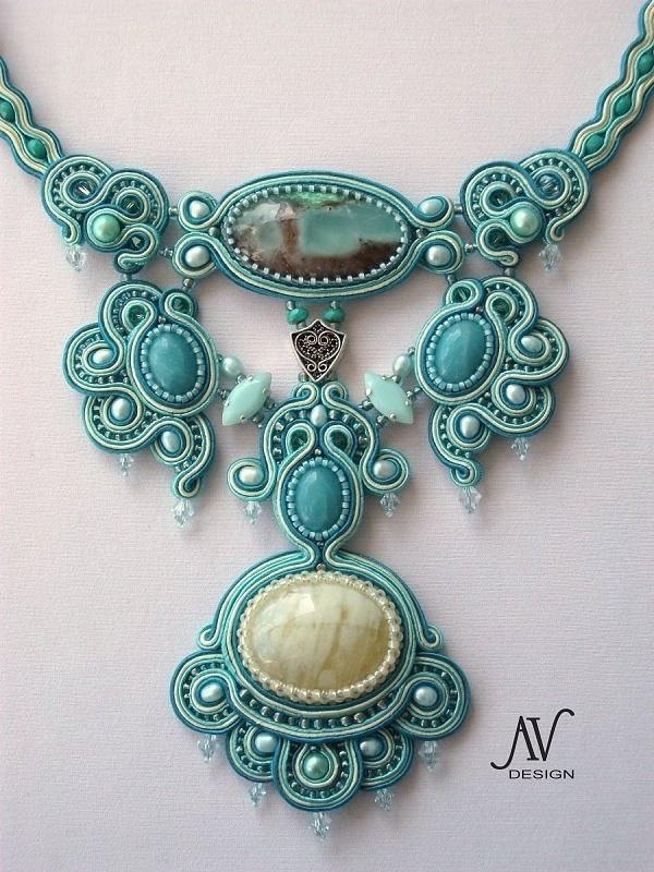 """Soutache necklace """"Allegro Appassionato"""". $750.00, via Etsy."""