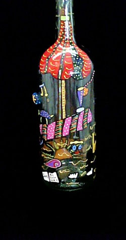 91 Best Hand Painted Bottles Images On Pinterest